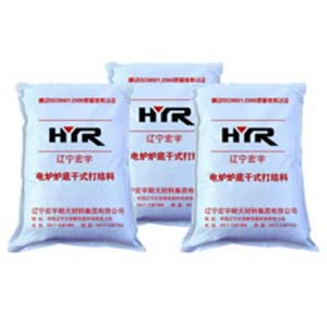 Dry tying material for bottom of electric furnace